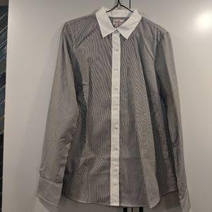 J. Crew Haberdashery Pinstripe Shirt, Sz Small